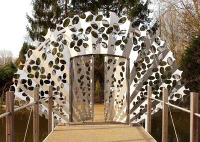Gate to allotments Klein Dantzig