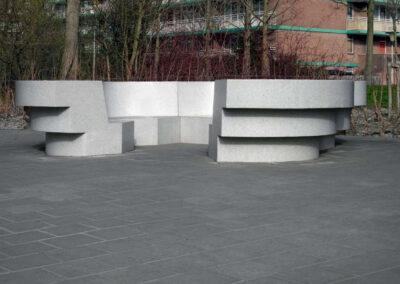 Flowerbench in terrazzo concrete, Van Splunter